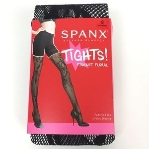 Spanx Tights Fishnets Floral Stockings